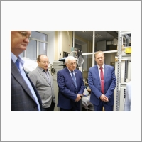 S.A. Babin with delegation of Perm scientific and production instrument-making company