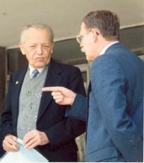 Ю. И. Шокин с Председателем СО РАН ак. В.А. Коптюгом