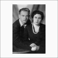 С женой. 1953 год