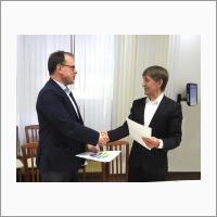 Подписание договора о научно-исследовательском сотрудничестве между ИВМиМГ СО РАН и СГУГИТ