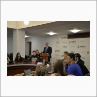 Лекция заместителя дир. по науч. раб. М.А. Марченко перед студентами РАНХиГС (23 октября 2018 года)