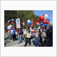 Участие сотрудников ИВМиМГ СО РАН в демонстрации 9 мая 2019 года