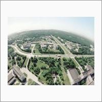 Новосибирский академгородок с высоты птичьего полета