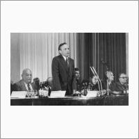 В президиуме конференции. 1980 год