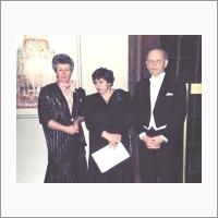 В.А. Коптюг с супругой. Стокгольм, 1989 год