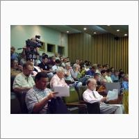 Участники Международной конференции ИСИ СО РАН «Перспективы систем информатики» PSI'06. Слева направо: д.ф.м.-н. В.Н. Касьянов, А.Ф. Рар, сэр Ч.Э. Хоар. Новосибирск, 2006