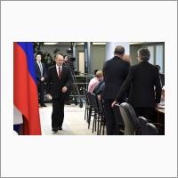 Владимир Путин в Доме ученых СО РАН 8 февраля 2018 года.