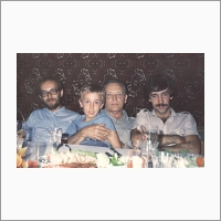 С сыновьями и внуком. 1984 год