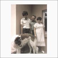 С любимой собакой Дженни