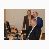 The head of the Siberian territorial administration of FASO Russia A.A. Kolovich in IAE SB RAS, 21 October 2015