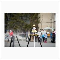 Две пусковые установки работали в параллельном режиме на Ракетном фестивале -2018. Но синхронно запускать получалось не у всех конструкторов (Автор фото – Кратова Ю.В.).