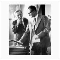 Два директора НИОХ - чл.корр. АН СССР В.П. Мамаев (1975-1987г.г.) и ак. В.А. Коптюг (с 1987 года и до конца жизни)