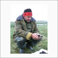 Директор ГИН СО РАН д.г.-м.н. А.А. Цыганков в поле.