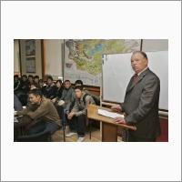 Выступление чл.-к. РАН И.В. Гордиенко перед студентами технического университета г. Улан-Батор (Монголия).
