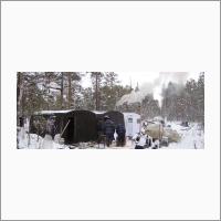Специалисты Западно-Сибирского филиала ИНГГ СО РАН чаще выезжают в экспедиции не летом, а в зимнее время. Фото из архива ИНГГ СО РАН.