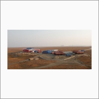 Научно-исследовательская станция ИНГГ СО РАН на острове Самойловский