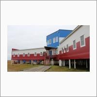 Научно-исследовательская станция ИНГГ СО РАН на острове Самойловский - вблизи
