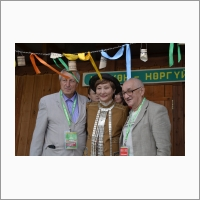 В центре: кандидат медицинских наук У.М. Лебедева, Якутия