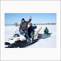 Бакчарское болото зимний отбор образцов торфа