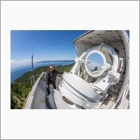 Байкальская астрофизическая обсерватория. Большой солнечный вакуумный телескоп. Старший научный сотрудник Поляков Владимир Иванович.