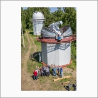 Байкальская астрофизическая обсерватория. Монтаж Синоптического солнечного телескопа СОЛСИТ2.