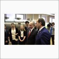 Беседа со студентами Новосибирского государственного университета и учащимися Специализированного учебно-научного центра НГУ.