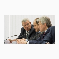 Михаил Федорук, Сергей Псахье, Дмитрий Маркович. Фото: Юлия Позднякова
