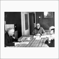 Г.К. Боресков на совещании с М.А. Лаврентьевым, 1970 г.