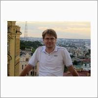 Младший научный сотрудник Сергей Хайрулин, один из авторов приложения, позволяющего защищать изображения от пиратского копирования. 2014 г. Фото с сайта copah.info