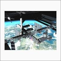 Системы виртуальной реальности для космических тренажерных комплексов. Визуализация сближения транспортного корабля с МКС. Источник: Архив ИАиЭ СО РАН.