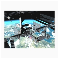 Virtual reality systems for space simulators. Visualization of docking of the cargo spacecraft and International Space Station