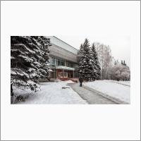 Институт земной коры СО РАН зимой
