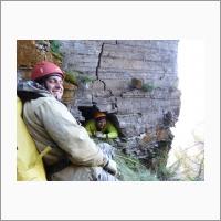 Ленские столбы. Открытие новых пещер в Якутии. М.н.с. А.А. Светлаков, ведущий инженер В.А. Пеллинен, лаборатория инженерной геологии и геоэкологии ИЗК СО РАН