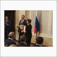 Награждение директора Е.Г. Багрянской