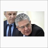 Президент Российской академии наук Александр Сергеев на встрече с учёными Сибирского отделения Российской академии наук.