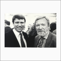 Academicians Valentin Parmon and Vyacheslav Molodin, September 1997 Photo By V. T. Novikov.