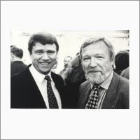 Академики Валентин Пармон и Вячеслав Молодин, сентябрь 1997 г. Фото В.Т. Новикова.