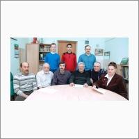 Рубцова Наталия Николаевна, зав. Лаборатории лазерной спектроскопии и лазерных технологий, д.ф.-м.н., - с сотрудниками. ИФП СО РАН.