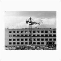Строительство главного корпуса ин-та 1959г.