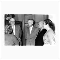 Участники первого собрания СО АН СССР, второй слева - Г.К.Боресков, 1958
