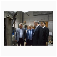 Governor of Novosibirsk region Andrey Travnikov visits Boreskov Institute of Catalysis