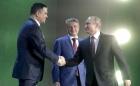 Справа налево: Владимир Путин, Герман Греф, Максим Акимов, фото  М. Метцеля/ТАСС
