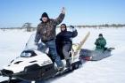 Бакчарское болото зимний отбор образцов торфа, фото ИМКЭС СО РАН