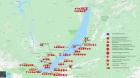 Расположение станций мониторинга на Байкале