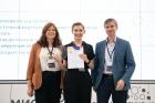 (слева направо) Диана Хомякова, Юлия Позднякова и Егор Задереев (ФИЦ КНЦ СО РАН)