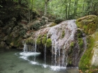 Один из порогов водопада Джур-Джур (ущелье Хапхал), Крым