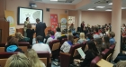 Участники форума «Мой зелёный Новосибирск: экологические задачи решаем вместе» в Выставочном центре СО РАН