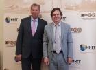 Генеральный консул ФРГ в Новосибирске Б. Финке и директор ИНГГ СО РАН И.Н. Ельцов