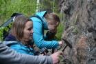 Молодые геологи на территории Кругобайкальской железной дороги, 2018