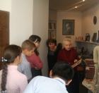 Школьники в мемориальном кабинете Валентина Афанасьевича Коптюга